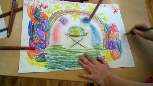 Vánoční tvoření výtvarného kroužku